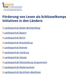 Linkliste Lesen in Deutschland