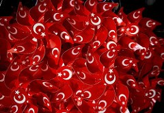 Wind wheels with the colours of the Turkish national flag. Photo: Kemal Keur CC by-sa 2.0, https://flic.kr/p/NMP6G Creative Commons Licence: Attribution + ShareAlike