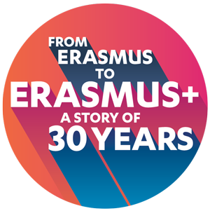 The Erasmus programme gets 30, logo for the anniversary