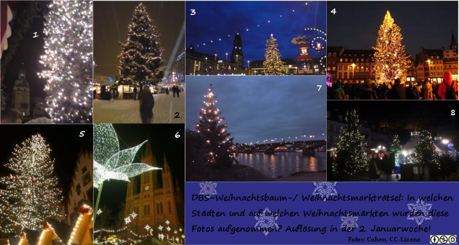 DBS Weihnachtsbaumr�tsel 2014