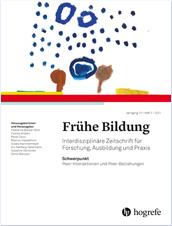 Titelblatt der Zeitschrift Frühe Bildung, Heft 2/2021