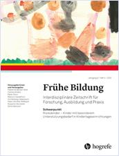 Titelblatt der Zeitschrift Frühe Bildung, Heft 4/2020