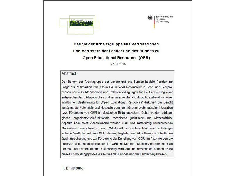 OER-Bund-Länder-Bericht