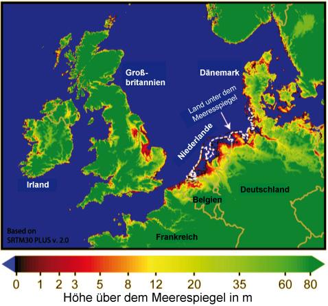 meeresspiegelanstieg karte Meeresspiegelanstieg in Europa – Klimawandel