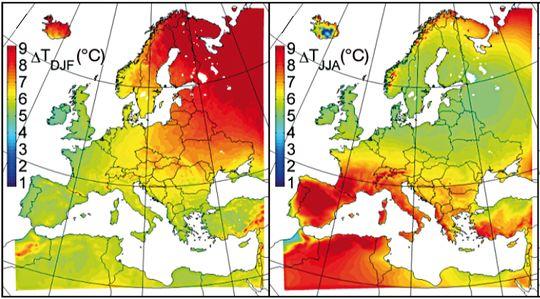 Europakarte Nordeuropa Karte.Klimaprojektionen Europa Klimawandel