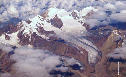 gletscherschmelze in den alpen