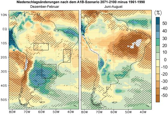 Lateinamerika Karte Gebirge.Klimaprojektionen Lateinamerika Klimawandel
